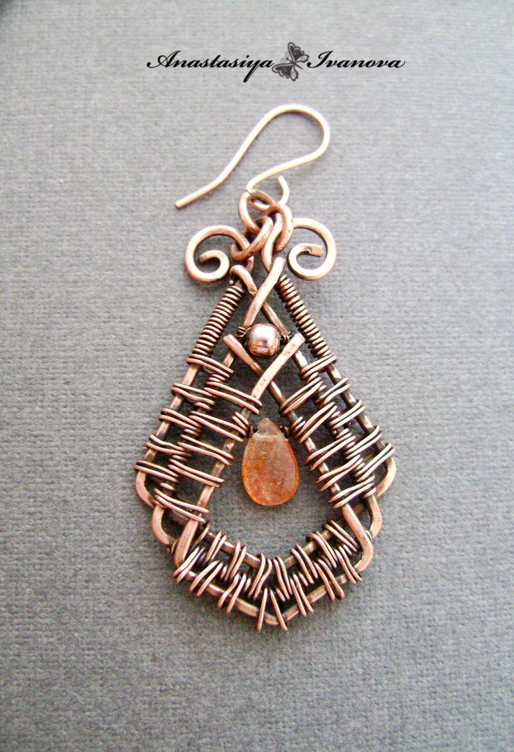 Scrapbook · Wire Wrapped Earringswire