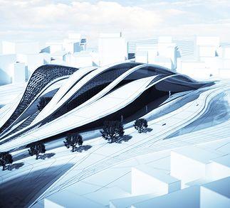 Fluid Railway Station// Senoner Armin// Masterclass Zaha Hadid