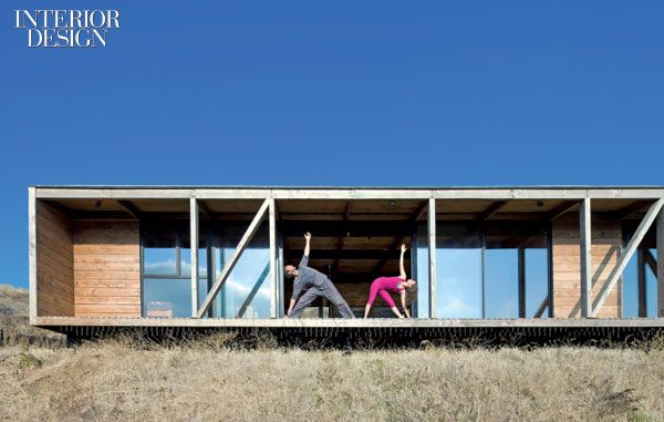 On the ocean side, sliding doors run virtually the full width of the house.Photography by Sergio Pirrone.