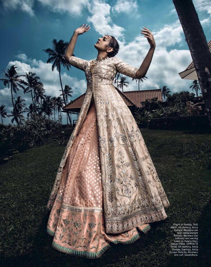 Harpers Bazaar Bride goes boho for the ArtXFashion May 2016 issue with Sonakshi Sinha and Stephen James in Anita Dongre, shot in stunning Cape Weligama, Srilanka. Nupur Mehta, Styled by Divyak Dsouza, Photographed by Errikos Andreou #BazaarBrideIn #SonakshiSinha