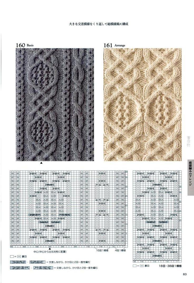 Японские узоры для вязания спицами со схемами для сайта *Модное вязание*, http://modnoevyazanie.ru.com/