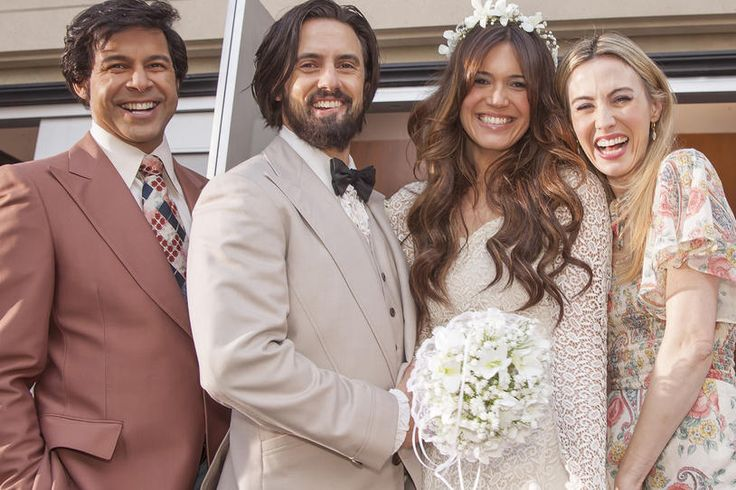 Jon Huertas, Milo Ventimiglia, Mandy Moore and Wynn Everett, This Is Us​