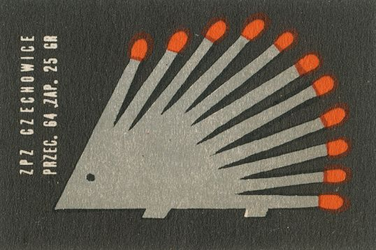 Cute match hedgehog vintage matchbox label #hedgehog #vintage #matches #matchbox #matchbooks