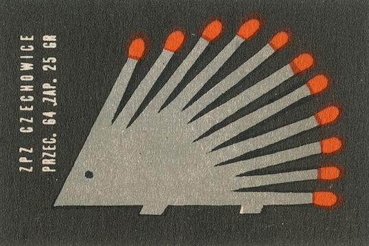 Cute match hedgehog vintage matchbox label #hedgehog #vintage #matches #matchbox #matchbooks