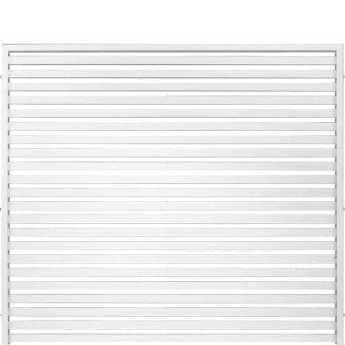 JABO Horizont vit aluminium Förvanlda din uteplats till ett vackert uterum. Denna skärmserie passar utmärkt till både sommarstugan och den modernare villan. Pulverlackad vit. Färgkod: RAL 9010.