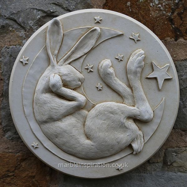 Garden Wall Plaques : Animal Wall Plaques : Hare In Moon Wall Plaque