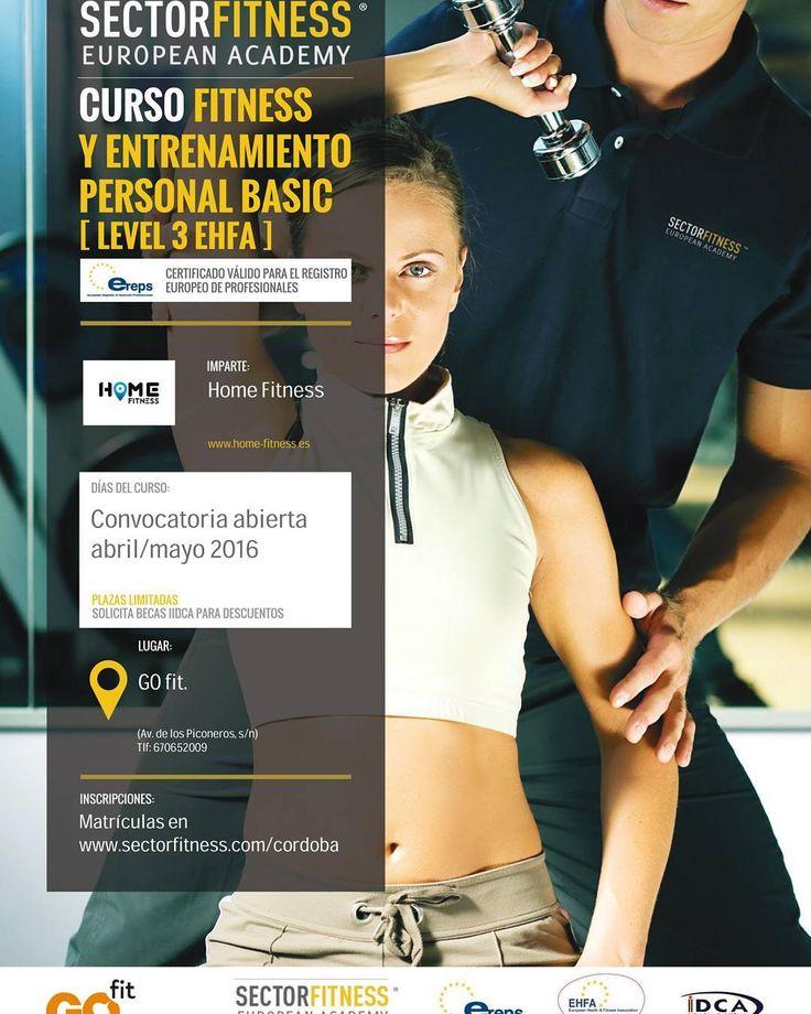 Curso de fitness y entrenamiento personal level 3 EHFA. @sectorfitness  Convocatoria abierta para abril y mayo 2016. En GOfit Córdoba.  Mas info en cordoba@sectorfitness.com  #sea #sectorfitness #EHFA #entrenamientopersonal #gofit #fitness #trabajo #pasión #focus #Motivation #inspiration #estilodevida #wellness by homefitness