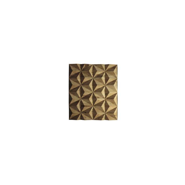 May Time Marketing Ltd - Tetrahedron Wall Art Natural - gmelina, wood