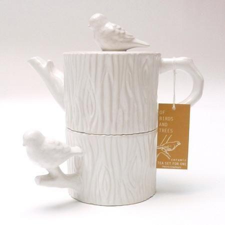 Chickadee Tea SetTrees Trunks, Teas Pots, Company Chickad, Teas Sets, Measuring Cups, Chickad Teas, Teas Parties, Cake Plates, Chickadee Teas
