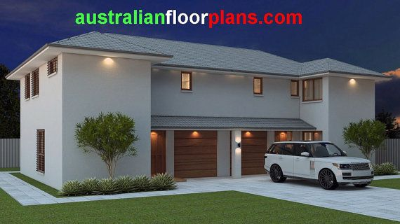 269 m2  6 Bed  Study Townhouse design  6 by AustralianHousePlans