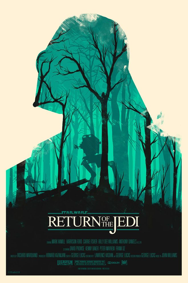 'Star Wars: Return of The Jedi' poster by Olly Moss