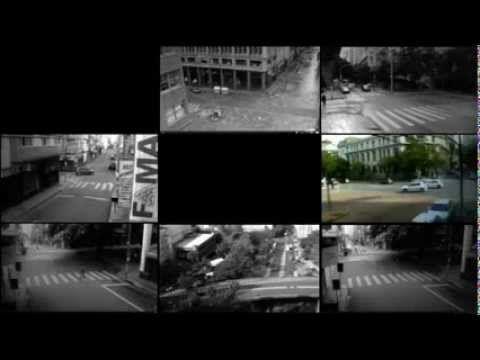"""Espiado, de Felipe Schulte. Porto Alegre, 2013, 3'07"""" minutos.      Muitas câmeras, radares, satélites e GPS nos monitoram todos os dias, mas se toda essa informação estiver em mãos erradas?      Saudade dos tempos que diziam """"Deus tá vendo"""" e apenas ele..  Realizado em Julho de 2013 com imagens capturadas de em Porto Alegre / RS."""