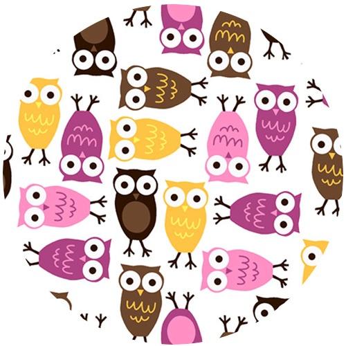 | fabricworm  Ann Kelle Cuddle Minky, Night Owl Mango/Chocolate $8.00