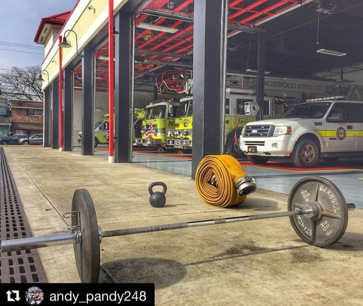 """FIREFIGHTER FITNESS  #Repost @andy_pandy248  Modified 17.2: 12min AMRAP - Engine bay length carrying 25ft 5"""" hose - 16x overhead swing (20kg Kettlebell) - 8x power clean (135lbs)  Want to be featured? Show us how you train hard and do work   Use #555fitness in your post. You can learn more about us and our charity by visiting WWW.555FITNESS.ORG  #fire #fitness #firefighter #firefighterfitness #firehouse #buildingastrongerbrotherhood #workout #ems #engine #truckie #firetruck #pastparallel…"""