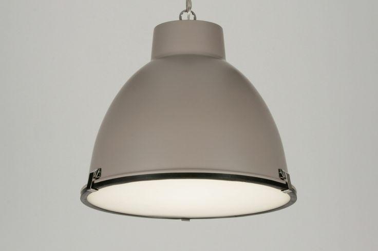 hanglamp 71831: industrie, look, kunststof, taupe
