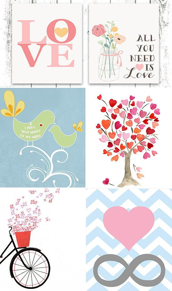 Heart-Themed Etsy Art