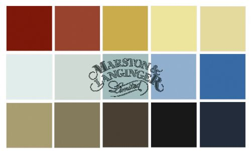 historic swedish paint color palette