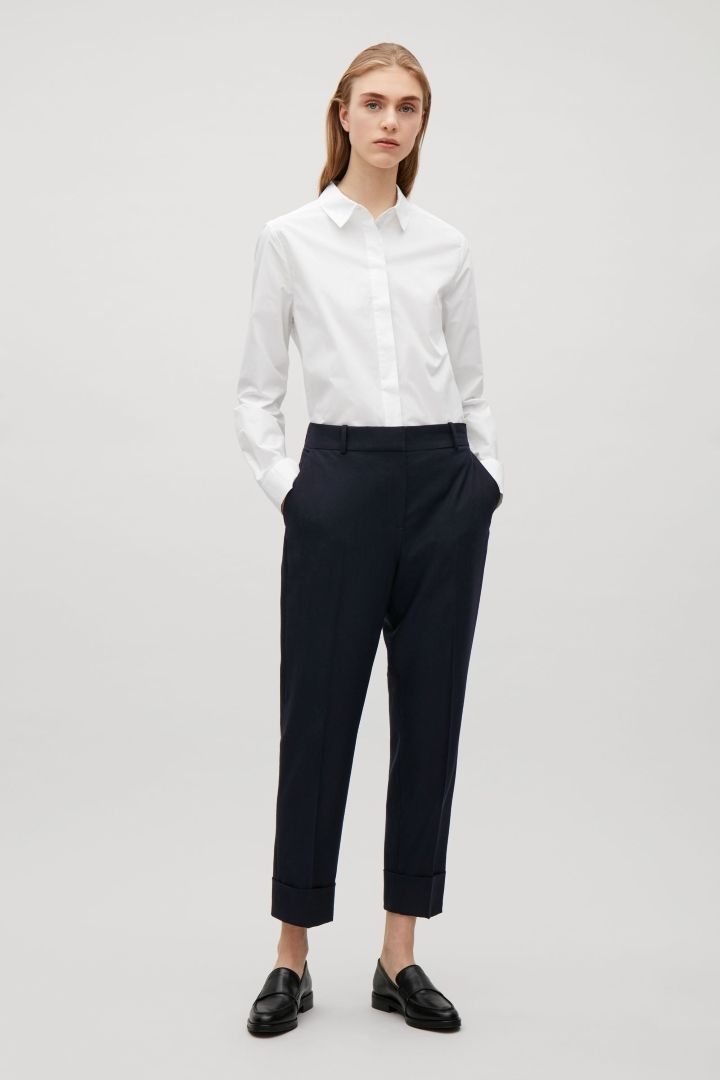 COS | Straight tailored wool trousers