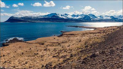 Iceland, landscape, photography, nature, travel, Images Beyond Words, blue sky, blue ocean, atlantic ocean, contrast, panorama, Serge Daniel Knapp, art
