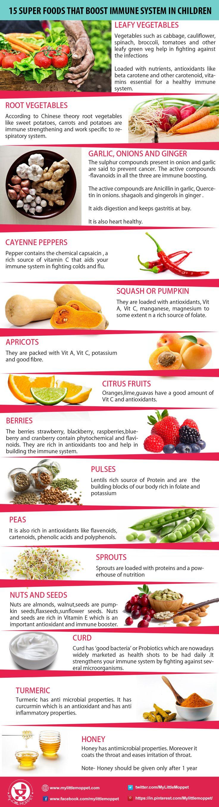 16 Super Foods that Boost Immune System in Children Food