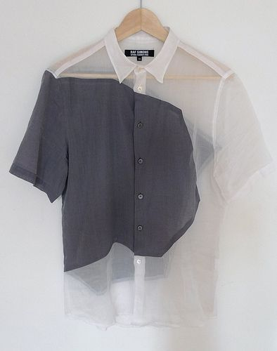 CLOTHES || Raf Simons color-block shirt