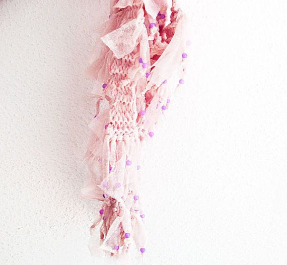 pink  scarf  women scarves tulle scarf fashion by aynurdereli, $29.00