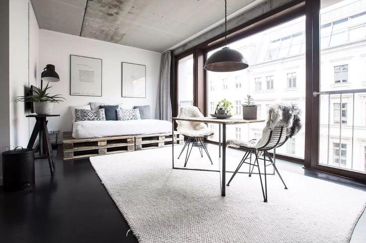 2908 best studio loft apartment blog images on pinterest. Black Bedroom Furniture Sets. Home Design Ideas