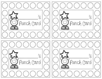 17 best images about punch cards on pinterest activities for Free punch card template