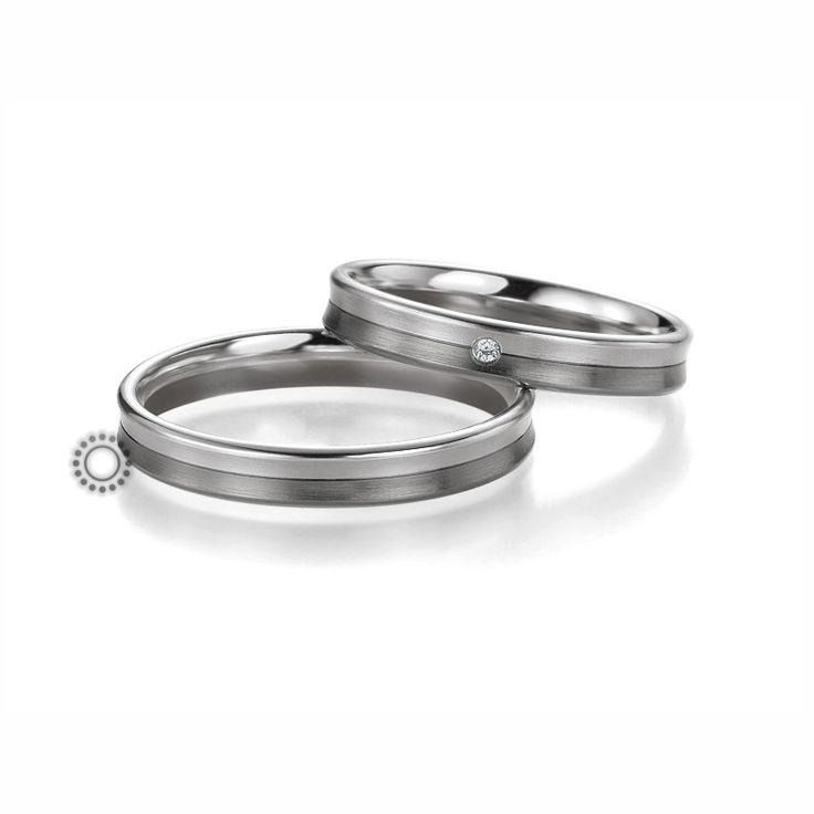 Βέρες γάμου BENZ 063 & 064 - Ένα πολύ μοντέρνο σχέδιο από ανατομικές βέρες Benz με λευκό & μαύρο χρυσό που ενθουσιάζει τους άνδρες   ΤΣΑΛΔΑΡΗΣ #βέρες #βερες #γάμου