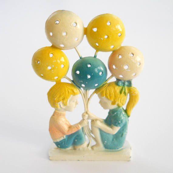 Vintage Revere Earring Tree  1970's Boy Girl Balloon