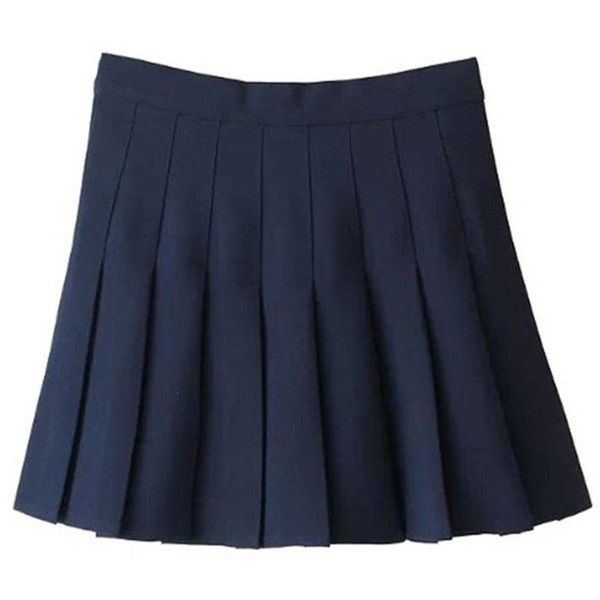 Golden service Women School Uniforms Plaid Pleated Mini Skirt ($13) ❤ liked on Polyvore featuring skirts, mini skirts, blue mini skirt, short plaid skirt, blue skirts and pleated skirt
