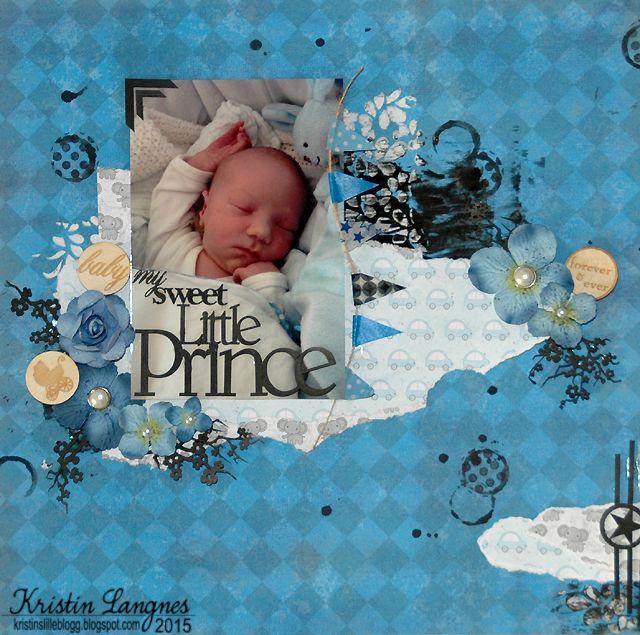 Kristin L har laget denne flotte layouten med sin lille Prins..