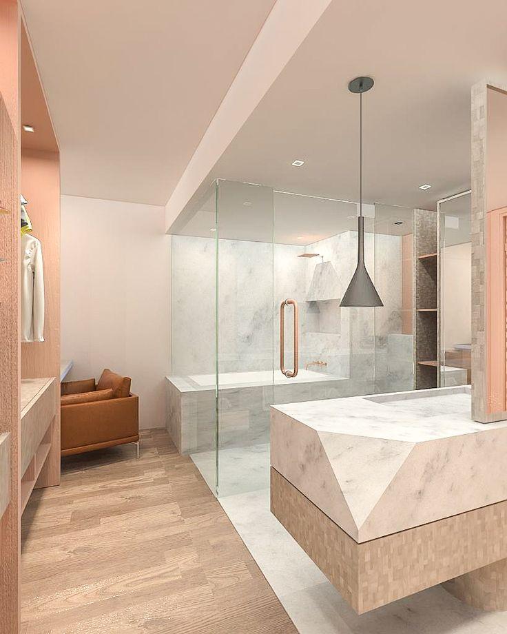 Oasis by Carve Design Studio. Open bathroom concept