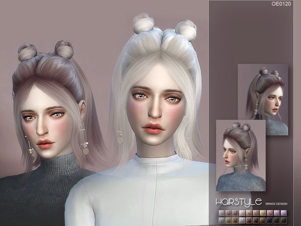 wingssims' WINGS-OE0120 | The Sims 4 cc/Hair/Female | ซิมส์ แต่งหน้า