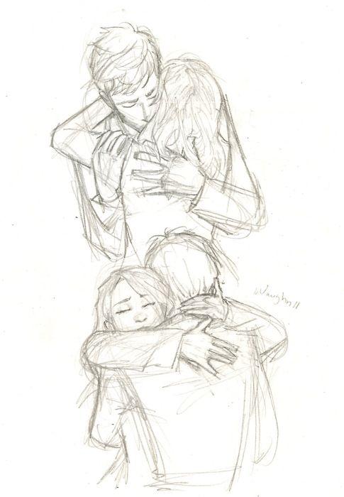 """""""Hey!"""", sagte er, atmete tief durch und kam näher. """"Hey."""" sagte sie leise und lief in seine offenen Arme."""