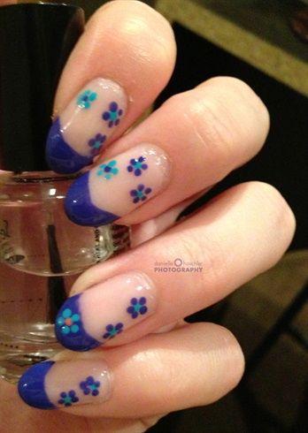 Flowered French by Danyell48 - Nail Art Gallery nailartgallery.nailsmag.com by Nails Magazine www.nailsmag.com #nailart