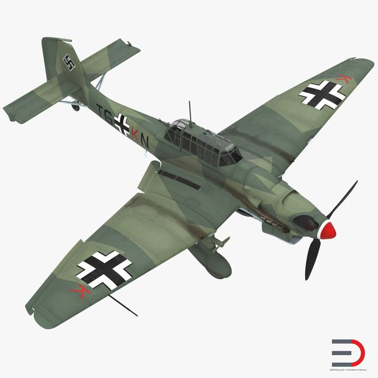 3D Junkers Ju 87 German Dive Bomber Rigged model