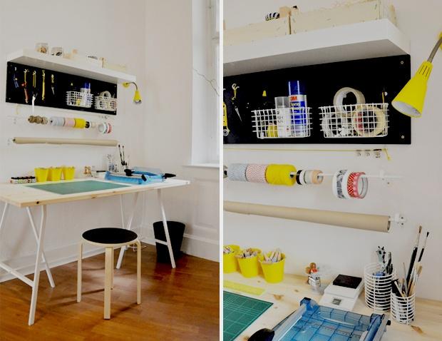 cool minimal craft space / studio