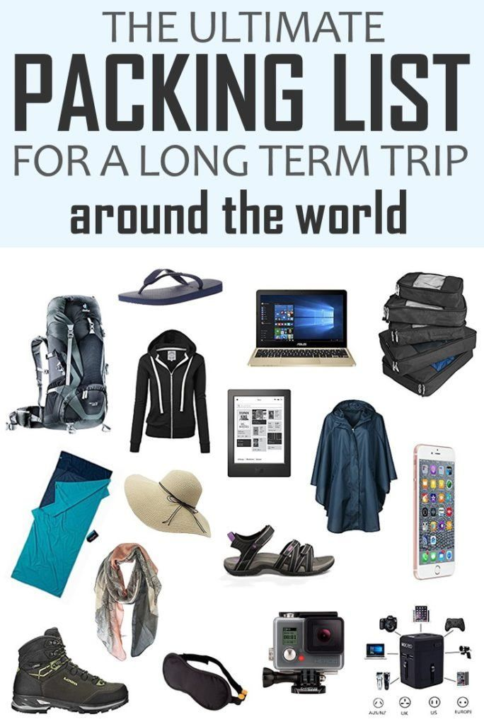 The Ultimate Packing List For A Long Term Trip Around The World! Click to learn how to pack your bag for a long-term trip around the world. Tried and tested list + a printable pdf to help you to pack your bag like a pro. #PackingList #TravelPackingList