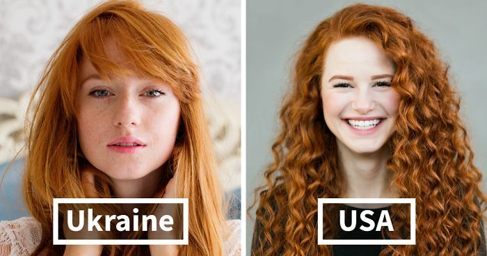 """While redheads have become synonymous with Ireland and Scotland, American photographer Brian Dowling who now lives in Berlin(Germany), photographed over 130 redheads from 20 different countries for his project """"Redhead Beauty"""". Red hair is the rarest hair color in the world and is caused by a gene mutation know as MC1R which affects about 1% of the world population. This gene mutation can also affect a person's tolerance to pain, sunlight, and their hairs' ability to gray."""