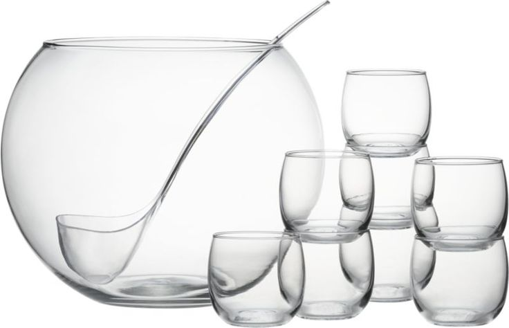 10-Piece Punch Bowl Set  | Crate and Barrel
