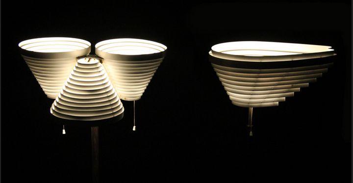 Алвар Аалто, лампы А809 и А805