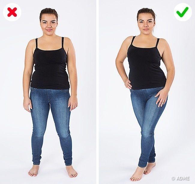 как расположить ноги на фото тронут