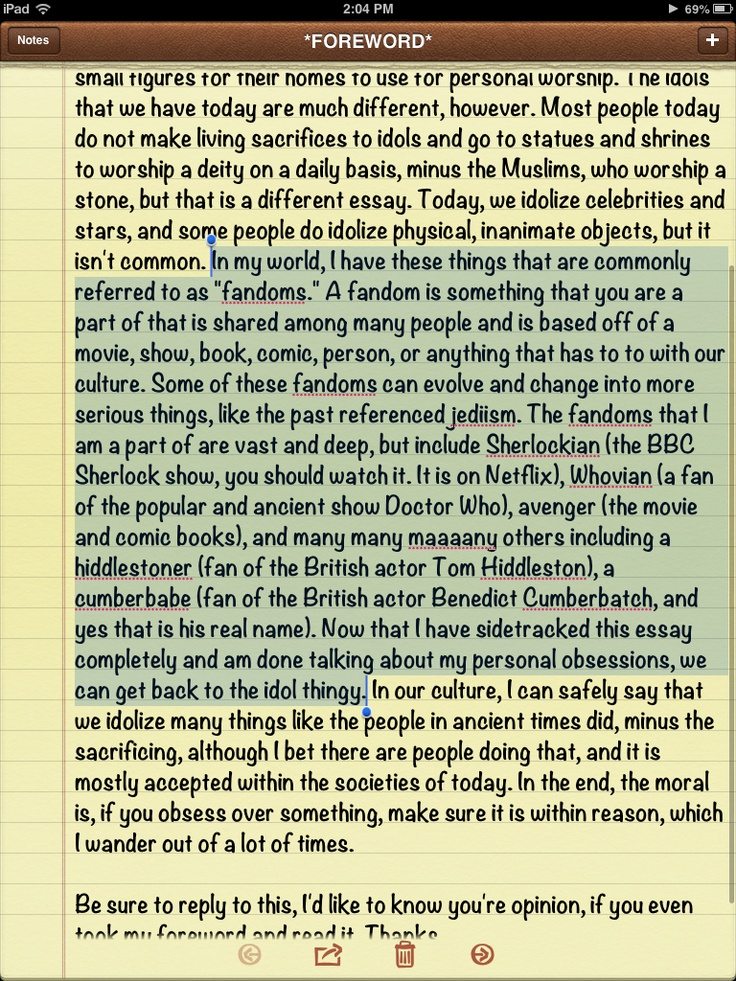 If you read the highlighted section, this is past of my idol essay for bible class, yes, you're welcome.