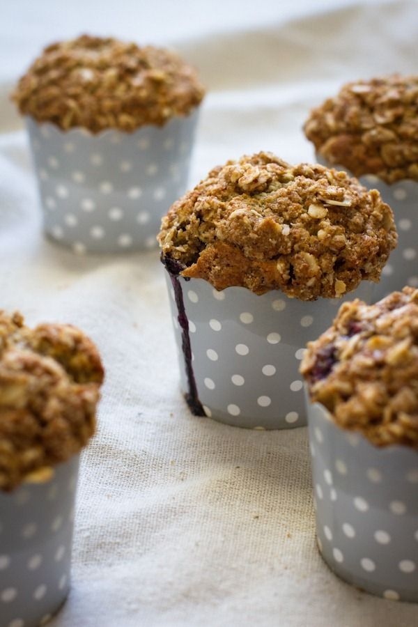 blueberry crumb muffins // edibleperspective.com
