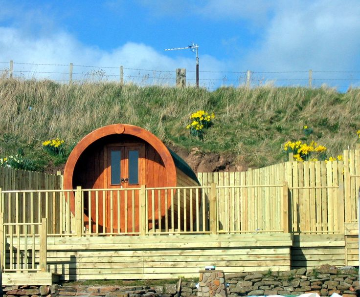 hobbit house microlodge crail with daffodils