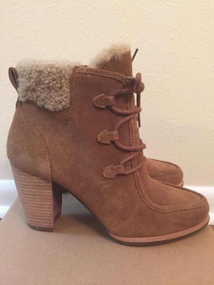 UGG Australia Women's Analise Heel Bootie Chestnut Size 7 Style 1008620 |  eBay