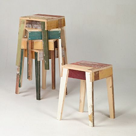 Stylish Eco-Furniture different furniture from recycled wood.