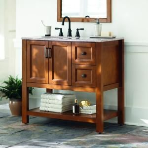 Catalina 36 1 2 In Vanity In Amber With Stone Effects Vanity Top In: home decorators collection 36 vanity