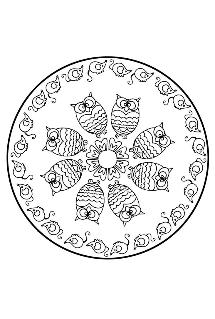 kids love drawing mandalas this was a part of a class call yoga and animals where we made some animal asanas pranayamas and drawing meditation with this - Animal Mandala Coloring Pages Owl